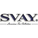 Чай Svay Крупнолистовой SVAY  -  это  инновационный премиальный чай, представленный на рынок в октябре 2007 года. Этот чай ориентирован на два сегмента: для HoReCa создана изысканная коллекция порционного ароматизированного чая в уникальных шелковых пирамидках для чайника и пакетиках для чашек в саше; для рынка Retail - элитная коллекция чая с натуральными добавками.  Удивительные и неповторимые чаи из эксклюзивных коллекций SVAY - это огромный труд и море любви, которые вложили в пирамидки с чаем специалисты компаний  Teegarten и «Чайный мир».