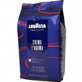 Кофе в зернах Lavazza Crema e Aroma (Лавацца Крема е Арома) 1кг, вакуумная упаковка, пакет синего цвета