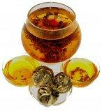 Чай связанный Персик Бессмертия с жасмином, 500 г, крупнолистовой связанный чай