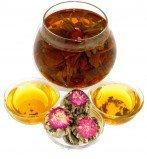 Чай связанный Персик Дракона Юй Лун Тао, 500 г, крупнолистовой связанный чай