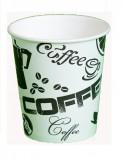Стакан картонный одинарный под горячие напитки Черный Кофе, 250 мл, 50 шт./уп.