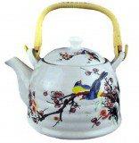 Чайник для чая Птицы на ветке с бамбуковой ручкой, 800 мл